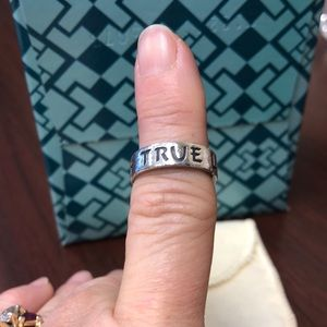 James Avery True, Love, Waits Sterling Silver Ring